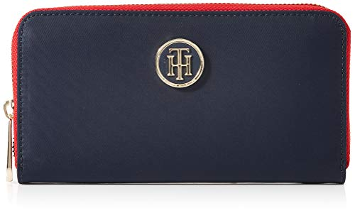 Tommy Hilfiger Poppy Lrg Za Wallet, Damen Geldbörse, Blue (Tommy Navy), 14x3.5x20 cm (W x H L)