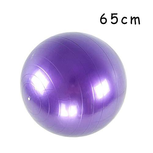 LXF JIAJU PVC Bolas De Fitness Bola De Yoga Espesada a Prueba De Explosiones Ejercicio Inicio Gimnasio Pilates Equipos Balón De Balance 45 Cm / 55 Cm / 65cm / 75cm / 85cm (Color : 65cm Purple)