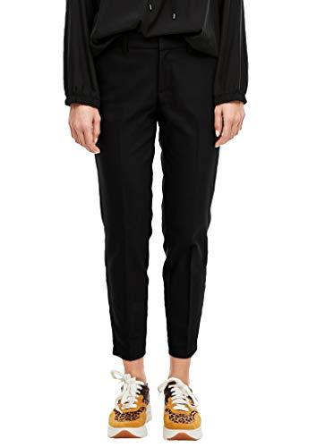 s.Oliver Damen Slim Fit: Slim Ankle Leg-Hose Black 46