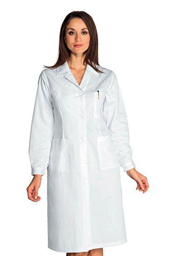 Isacco Bluse für Damen, Weiß, L, 100% Baumwolle, langärmlig, Knöpfe mit Ösen