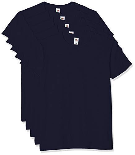 Fruit of the Loom Iconic, Lightweight Ringspun tee, 5 Pack Camiseta, Azul (Deep Navy AZ), XXX-Large (Size:3XL) (Pack de 5) para Hombre