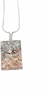 AGA Square Shaped Resin Pendant Necklace