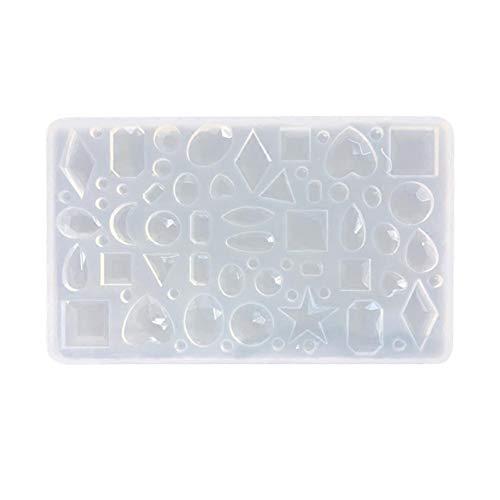 Stampo di silicone di geometria di diamante di categoria commestibile, Stampo di Moulage di gioielli di ciondolo, usato nelle Strumenti di mestiere di gioielli di resina époxyde di cristall