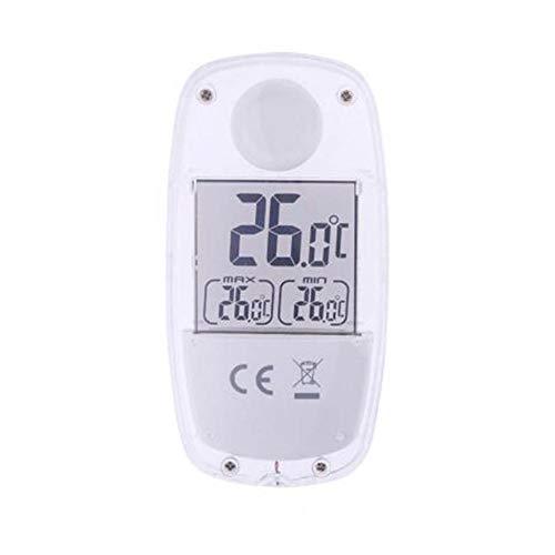 Thermomètre solaire, écran LCD électronique numérique thermomètre pour fenêtre à ventouse solaire thermomètre solaire