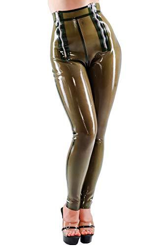 Westward Bound Natasha Twin Zip Leggins, Semi-transparent Grün L (UK 16/18) / 32L
