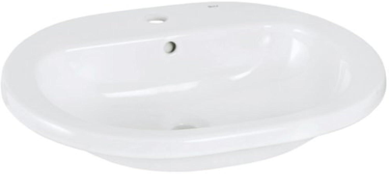 Roca Bathroom Vanity Unit Ceramic Basin Compact Cloakroom Furniture Suite 614992?Easy-Clean Lotus Effect White 56?cm