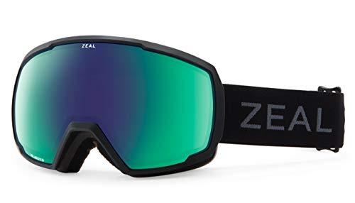 Zeal Optics Nomad Brille, dunkler Rahmen mit polarisierten Jade-Spiegelgläsern