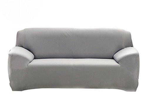 Hotniu 1-Stück Elastisch Sofaüberwurf, Sofaüberzug Polyester, Sofahusse Sofa Abdeckung Stretch, Sofabezug für Sofa, Couch, Sessel zum Schutz, mehrere Farben (2 Sitzer 135-170cm, Grau)