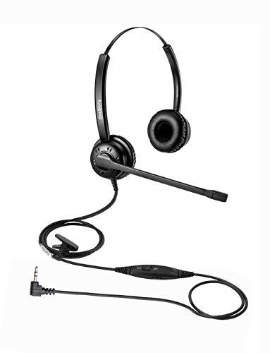 Beebang Auriculares de 2,5 mm teléfono para Auriculares con cancelación de Ruido...