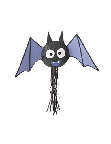 Unique Party 62965 - Piñata de murciélago de Halloween, cuerda de tirar