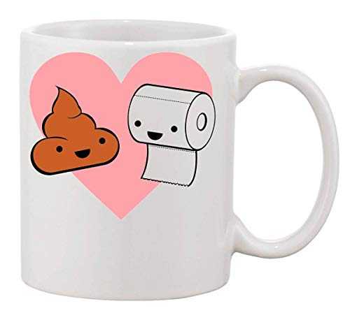 Toiletpapier en te grappige koffie thee mok Cup