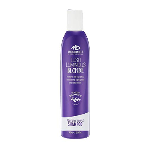 Powerful Purple Toning Shampoo, Sulfate Free Tones, Prevents, Balances Brassiness in Blonde, Color Treated, Silver, Grey Hair - Paraben Free, Vegan Friendly by MARC DANIELS Professional