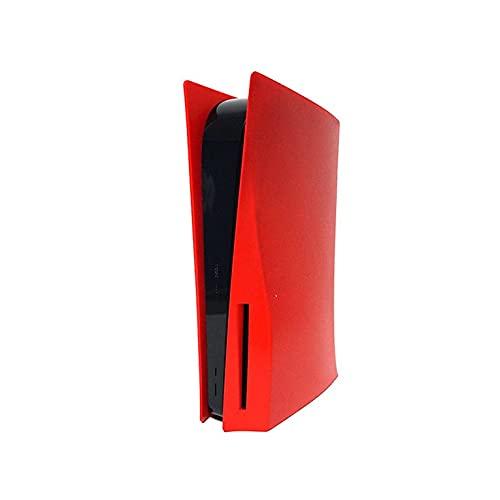 CNmuca Skin Shell Case Cover Placa de substituição para console de jogos PS5 Acessórios anti-arranhões à prova de poeira vermelho