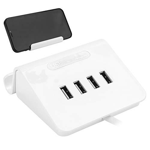 Zerodis Estación de Carga USB de 4 Puertos, 5V 2A Método de Carga Directa Seguridad Múltiples Dispositivos Cargador Organizador con Soporte para Dispositivos Android/iOS