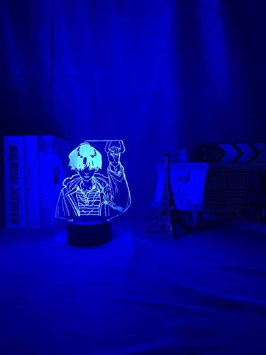 Lámpara de noche 3D Lámpara acrílica 3D BL Anime Killing Stalking Yoon Bum Light para decoración de habitación de cama Luz de noche LED Killing Stalking Lamp Yoon Bum-Fernbedienung