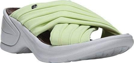 BZees Womens Knockout Slide Sandal, Green Lycra