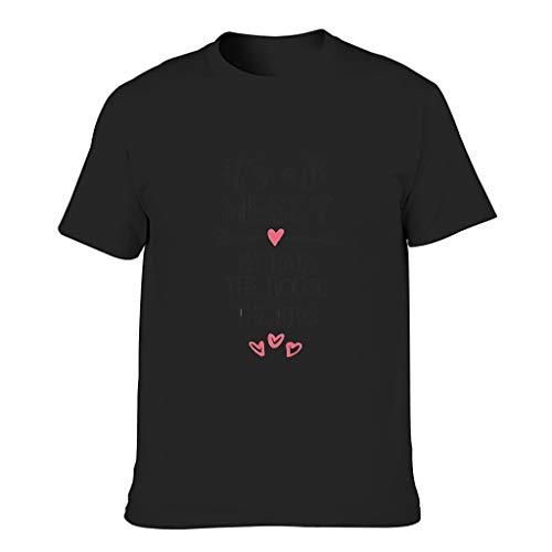 Camiseta de algodón para hombre, diseño con texto en alemán 'Mein Haarhaus Das Kinderleben Neuheit Neuheit Neustig komfort' negro XXXL