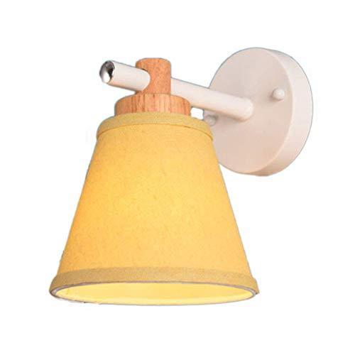 YLCJ Modern bedlampje in landelijke stijl met stoffen schaal met lampenkap van stof E27 woonkamerstopcontact Loft Hotel grijs