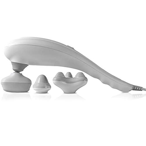 SHARPER IMAGE Deep-Tissue Massager with Swappable Heads, Personal Massage for Neck and Back with Kneading, Relaxation and Calming Sensation, Interchangeable Nodes