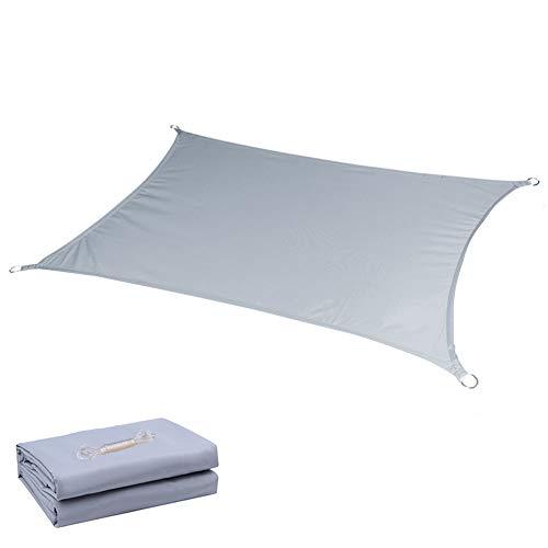 BAIYING Malla Sombra De Red Mirador Protector Solar Sombra Cubrir Hebilla De Cobre Anillo D 95% Resistente A Los Rayos UV Poliéster, 7 Colores, 2 Tallas (Color : Light Grey, Size : 4X6M)