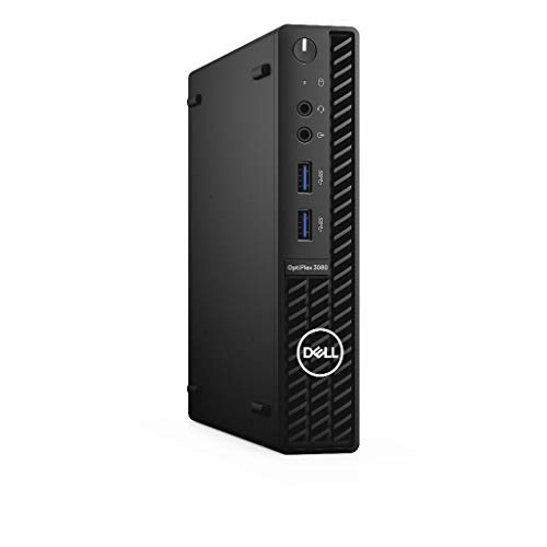 Dell OptiPlex 3080 10th Generation Intel CoreTM i5 i5-10500T Processor 8GB DDR4-SDRAM 128GB SSD MFF Black Mini PC Windows 10 Pro