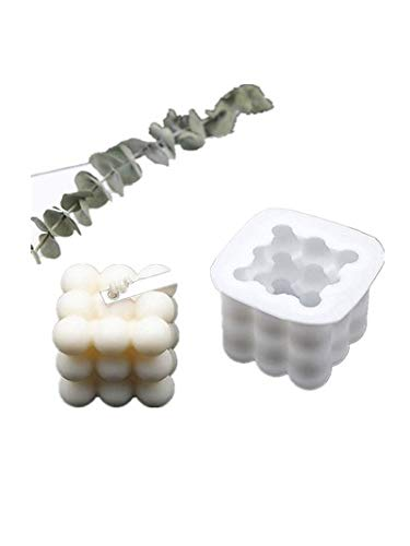 Stampo per candele in silicone 3D Rubiks Cubes per realizzare candele in silicone, per aromaterapia, torte, 9 palline rotonde