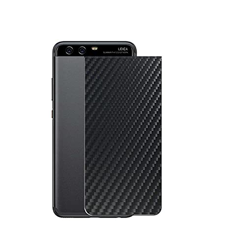 VacFun 2 Piezas Protector de pantalla Posterior, compatible con HUAWEI P10, Película de Trasera de Fibra de carbono negra Skin Piel