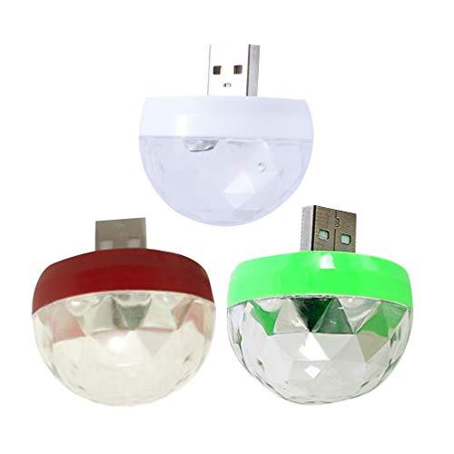 Uonlytech - Lámpara de discoteca de 3 piezas con iluminación LED, multicolor, para discotecas, fiestas, etc.