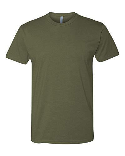 Next Level Mens Premium Fitted CVC Crew Tee (N6210) Military Green l