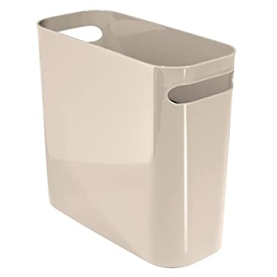 """InterDesign Una Wastebasket Trash Can 10"""", Taupe"""