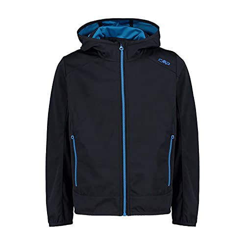CMP Jungen Softshell Jacket with Fixed Hood Jacke, Anthracite-Blue Teal, 176