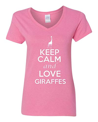 Ladies Keep Calm And Love Monkeys Ape Animal Lover Wild Funny T-Shirt Tee