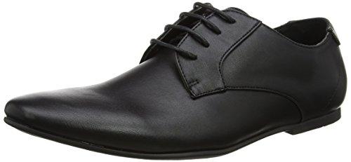 New Look Gibson, Zapatos de Cordones Derby Hombre, Negro (Black), 42 EU