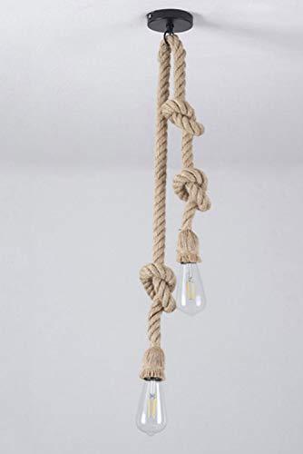 Hängelampe Vintage Seilampe Pendelleuchte Hängeleuchte Lampenfassung 100cm E27 Fassung (ohne Birne)
