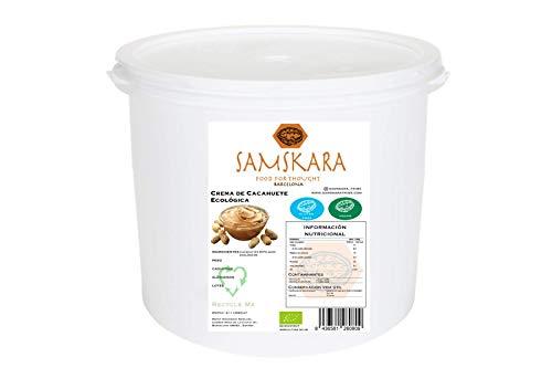 Crema de Cacahuete Ecológica BIO   Samskara food for thought   Vegano, sin gluten 100% cacahuetes, mantequilla natural suave   sin azucar sin sal