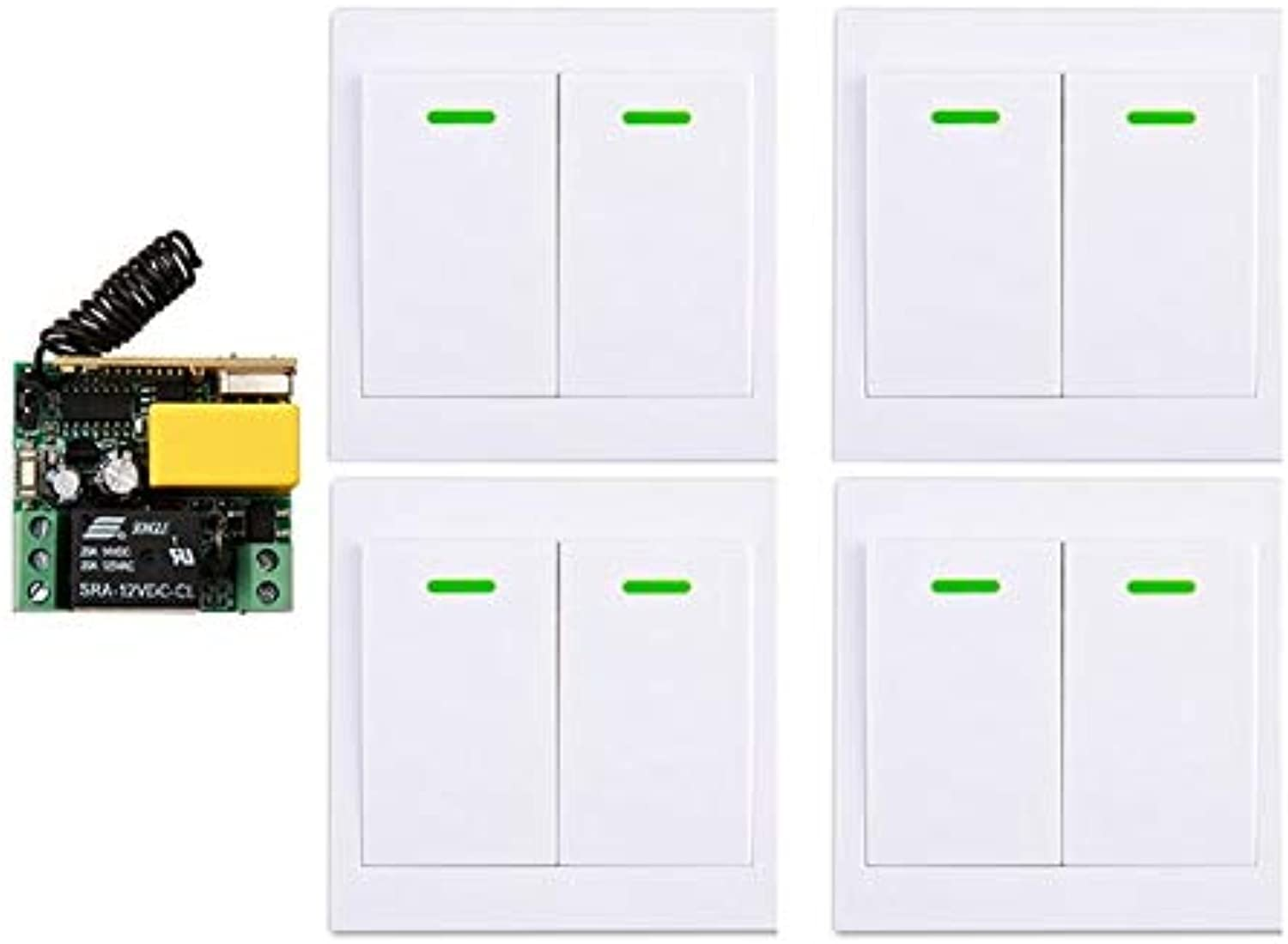New Digital Remote Control Switch AC220V 1CH 10A Receiver Wall Transmitter Wireless Power Switch Radio Controlled Switch Relay  (color  D)