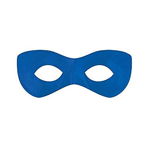 Amscan Fabric Super Hero Domino Eye Mask, 1, Blue