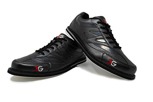 Bowling-Schuhe, 3G Cruze, Damen und Herren, für Rechts- und Linkshänder, 3 Farben, Schuhgröße 36-46 (37, Schwarz)