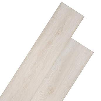 Foto di vidaXL Listoni per Pavimentazione in PVC 5,26 m² 2 mm Bianco Rovere Pannelli