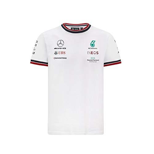 Mercedes-AMG Petronas - Offizielle Formel 1 Merchandise 2021 Kollektion - Herren - Driver Tee - Kurze Ärmel - Weiß - L