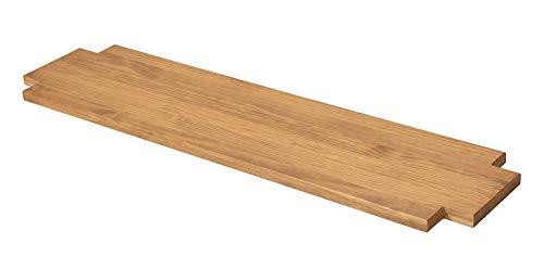 Naturholzmöbel Seidel Ablageboden Zwischenboden Ablage für Lowboard Sideboard oder Sitzbank Rio Bonito 160x38cm, Pinie Massivholz geölt und gewachst, Farbton Honig hell (158x36cm, Pinie)