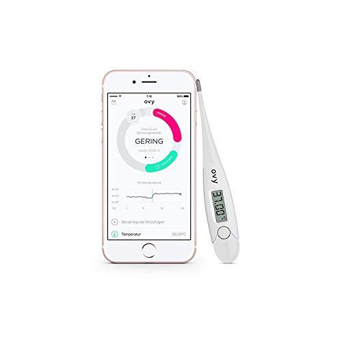 Basalthermometer zur Zykluskontrolle mit gratis App (iOS & Android) von Ovy | Kinderwunsch, Baby Fieberthermometer oder hormonfreies Leben