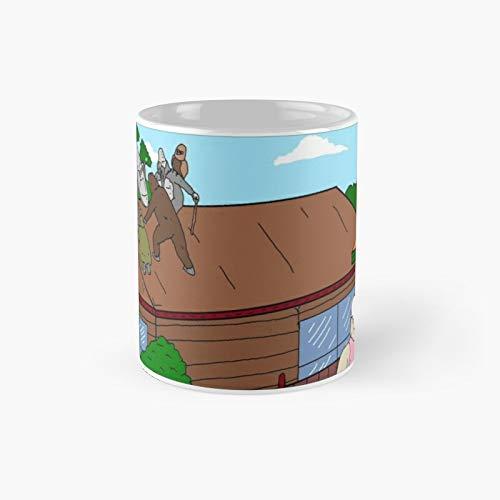 TBL Techo Hangs Taza clásica El mejor regalo Divertido tazas de café de 325 ml Best Oz
