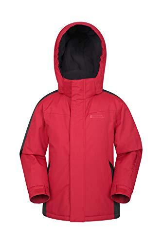 Mountain Warehouse Raptor Kids Snow Jacket - Winter Ski Coat for Boys & Girls Red 7-8 Years