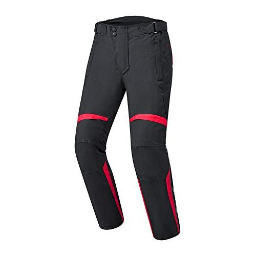 NCBH Motorradanzüge für Herren, wasserdicht, mit abnehmbarem Futter, geeignet für Herbst und Winter, Motorradbekleidung für Männer und Frauen, rote Hose, Größe L