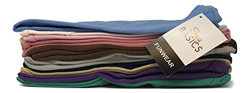 Sexy Basics Women's 5 & 10 Pack Casual & Active Cotton Stretch V Neck Short Sleeve Shirts (X-Large, 6 Pack - 6 Black)