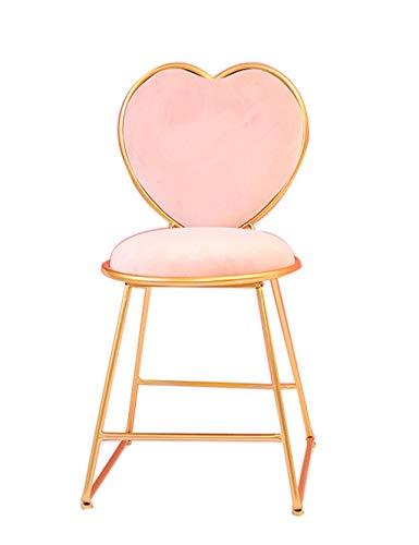 BTPDIAN Moderne minimalistische gestoffeerde stoel, creatieve stoel schoonheidsstoel nagel salon balie kassierstoel bureaustoel stoel