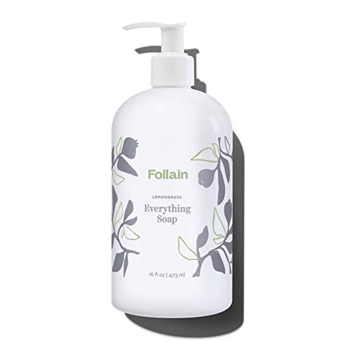 Follain Lemongrass Everything Soap – For hands, body and home – Gentle, skin-softening, non-toxic, biodegradable castile soap – Clean Beauty – 16 fl oz