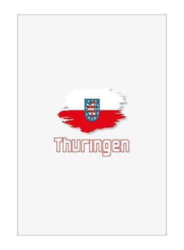 Tipolitografia Ghisleri Handtuch, Strandtuch, Handtuch THURINGEN mit Flagge 51