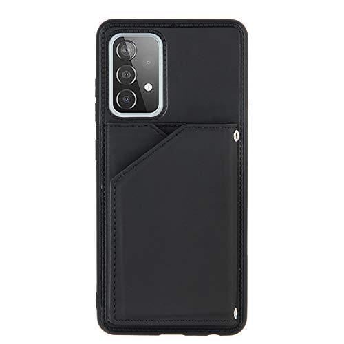 Funda para teléfono móvil con tarjetero para Samsung Galaxy A52 5G, color negro